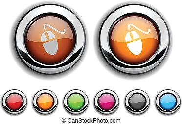 Mouse button.