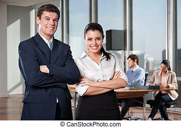 Smart Businesspeople Smiling