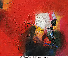 abstract painting - analog abstract painting