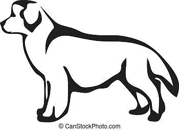 Newfoundland dog - Stylized image Newfoundland dog