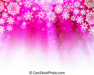 Purple wave background with snowflakes. EPS 8
