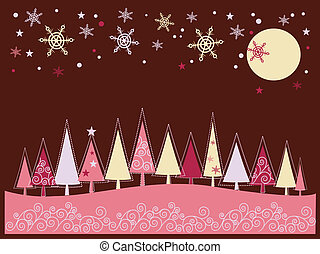 Christmas greeting card - Christmas and New Years greeting...