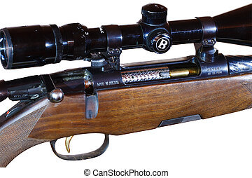 sniper rifle with telescopic sight
