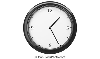 Clock Time Lapse HD, loop - Clock with Twelve hour time...