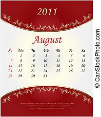 2011 Calendar - August