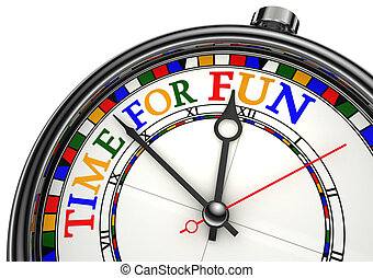 time for fun clock closeup