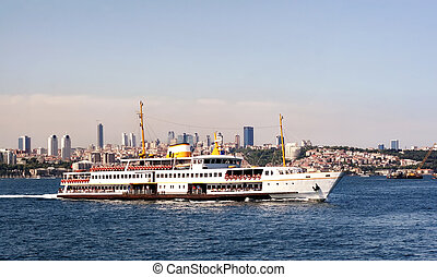 Istanbul city ferryboat