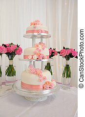 Three tier wedding cake. - Three tier wedding cake with...