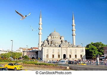 Eminonu Square, Istanbul - Yeni Mosque, Eminonu Square,...