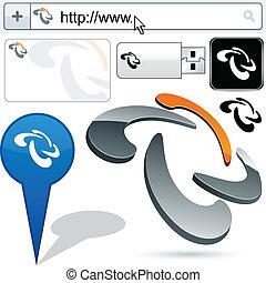 Original rotation design element. - Original vector rotation...