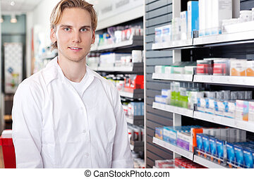 Portrait of Male Pharmacist - Portrait of male pharmacist...