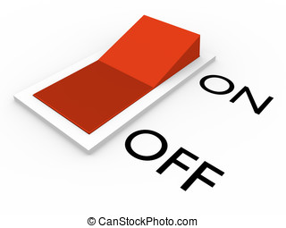 Switch off - Switch in off position Abstract 3d illustration...