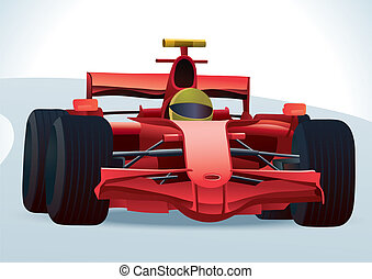 F1 Racing Car - vector illustration of fast F1 racing car