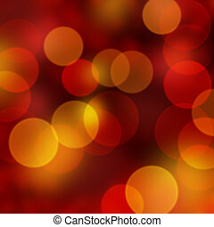 Christmas lights - Christmas background of red and gold...