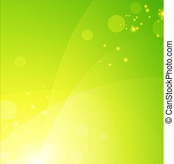green spring background with lights