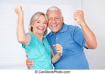 Portrait of Cheerful Couple - Portrait of cheerful senior...