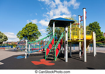 Children's Playground in the city, uk