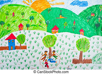 Child's, drawing