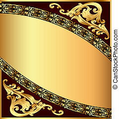 chocolate background with gold(en) pattern