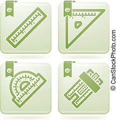 Office Supply Icons Set (part of the Olivine Squared 2D...