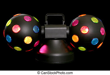 Disco party lights - disco lights on black background