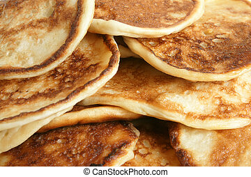 Thick pancakes macro texture background