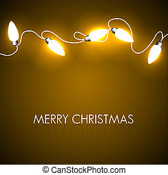 Vector Christmas background with golden lights