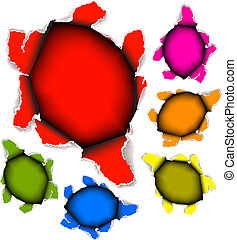 Collection of vector holes in paper - Collection of vector...