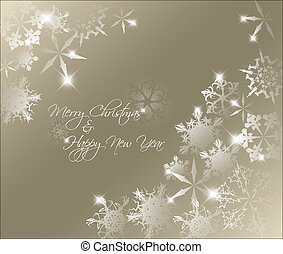 Vector golden abstract Christmas background