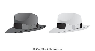 Hat fedora - White and black hats fedora