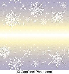 Christmas snowflake on purple background