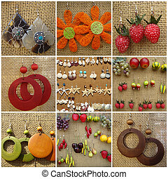 fancy earrings mix - earrings collection, Poland