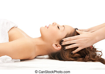 beautiful woman in massage salon - picture of beautiful...