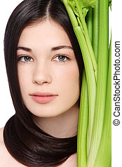 Organic beauty - Portrait of young fresh beautiful healthy...