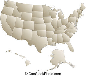 United Stated - A highly detailed map of the United States...