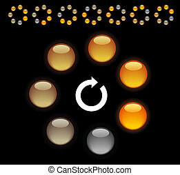 Indication - Circle loading indicators Vector illustration...