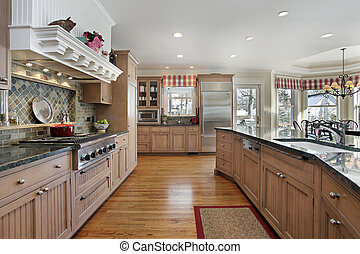 Large kitchen in modern home