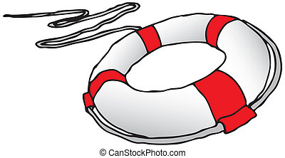 Lifebuoy - Subject to save drowning victims. Vector...