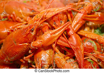 river crayfishes as illustration bio food