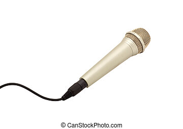 microphone with a cord