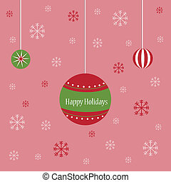 Vectors Illustration of merry christmas happy holidays header ...