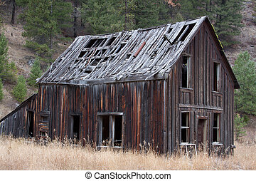 Ghost town - Old Ghost town building as it ages