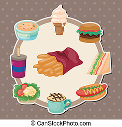 Cartoon fast-food card