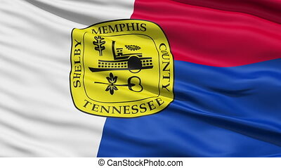 American City Flag of Memphis - Memphis Waving American City...