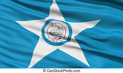 American City Flag of Houston - Houston Texas Waving...