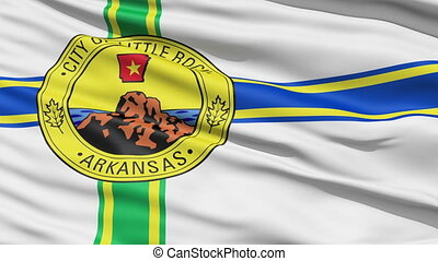 American State City Flag of Littler - Littlerock Arkansas...