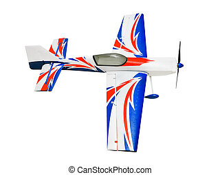 RC plane isolated on white background