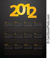 special calendar design for 2012