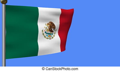 animation of flag of mexico