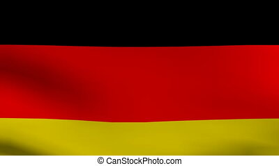 animation of flag of germany